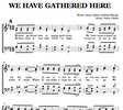 Thumbnail We have gathered here - H. Gäbler, R. Warnke Sheet Music
